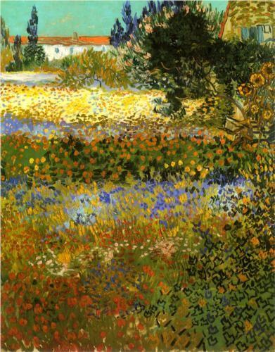 Flowering Garden - Vincent van Gogh