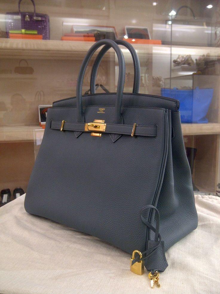 88fbde885c etoupe birkin 35cm hermes togo leather bag gold ghw