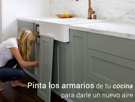 C mo pintar los armarios de tu cocina te lo explicamos - Como pintar mi cocina ...