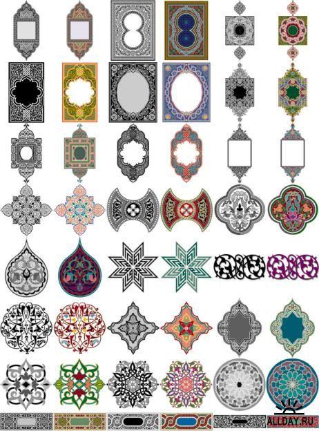 Arabesque ornaments Арабские орнаменты
