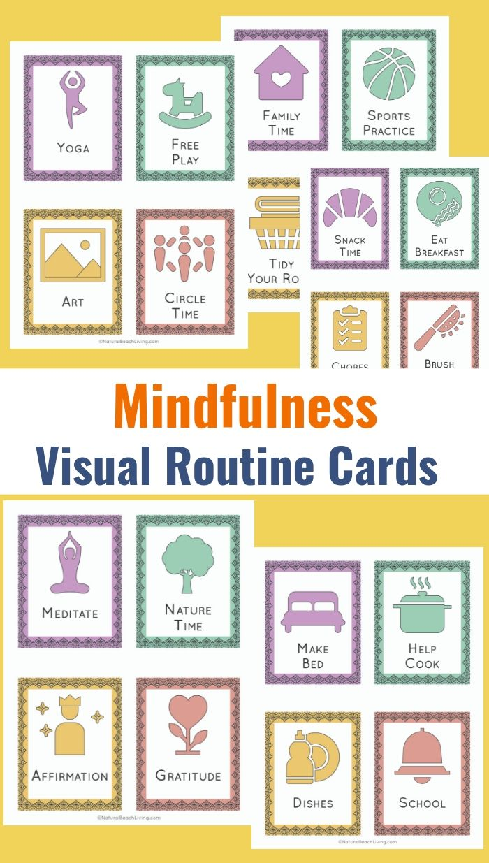 36 Printable Visual Schedule Pictures Mindfulness Routine Cards