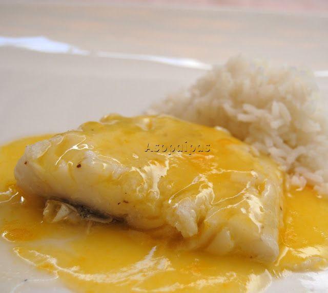 Bacalao con Salsa de Naranja (Codfish in Orange Sauce) - Asopaipas. Recetas de Cocina Casera.