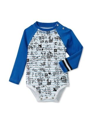 76% OFF Mini Shatsu Kid's Doodle Bodysuit (White)