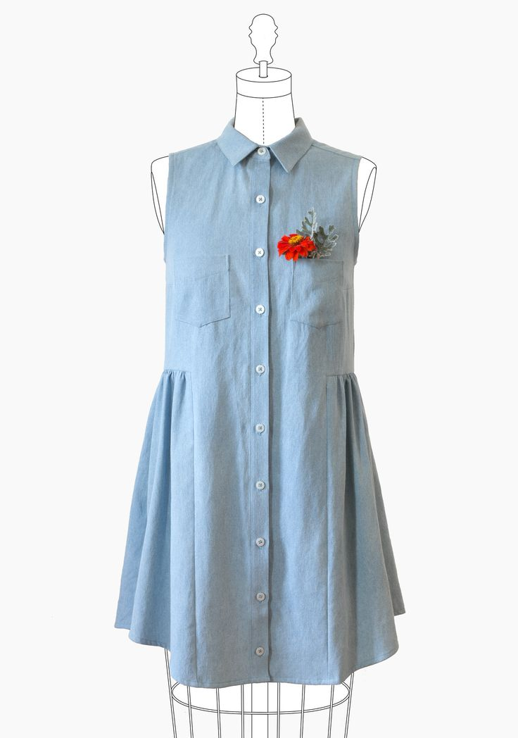 Grainline Studio - Alder Shirtdress⎜Dress Pattern. I have this pattern and can't wait to make it.