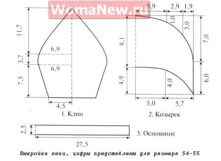 vykroyka_kepi_выкройка кепи