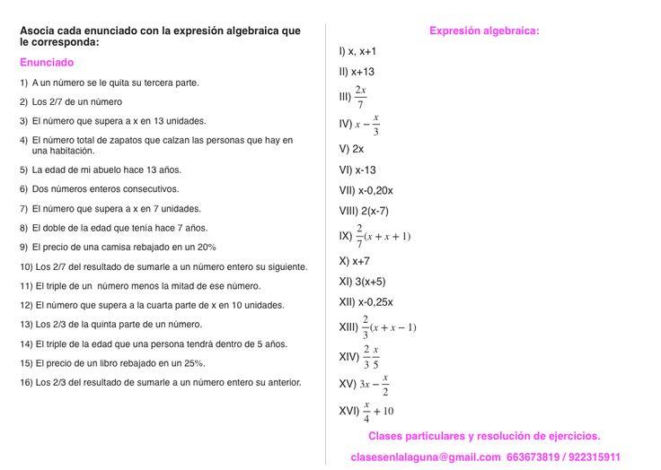 Ejercicio propuesto 4 de Expresiones Algebraicas.