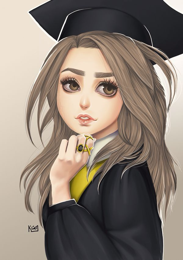 Graduation girl on Behance