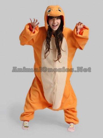 Charmander Onesie   Charmander Costume   Charmander Kigurumi   Fire Dragon Onesie - Pokemon Onesies http://www.animalonesies.net/charmander-onesie/
