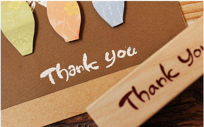 """Stempel  DIY  """"Thank You"""" scrapbooking von Schmuck, Ohrringe, Halsketten, Armbänder auf DaWanda.com"""