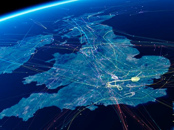 Today is the busiest day ever in Britain's skies — here's what handling 8,800 flights in 24 hours looks like - British airspace is today set to handle more flights in a single day than ever before, with 8,800 planes due to take off or land in a single day.  Footage generated from air traffic data shows how the huge volume of planes interact over mainland UK and Ireland.  Coloured lines show planes leaving, entering and moving within UK airspace, with loops from flight holding patterns…