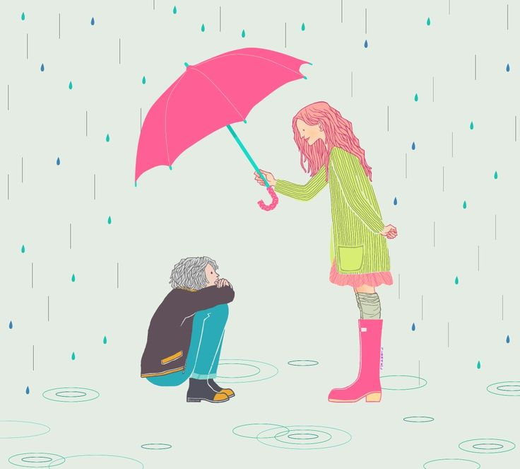 lean on me, friend #illustration