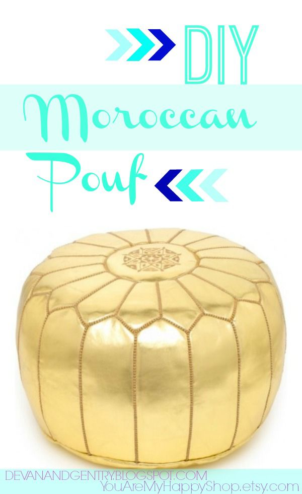 Fabulous DIY Poufs and Ottomans - DIY Moroccan Pouf - Step by Step Tutorials and Easy Patterns for Cool Home Decor. Crochet, No Sew, Leather, Moroccan Boho, Knit and Fun Fur Projects and Chair Ideas http://diyjoy.com/diy-floor-poufs