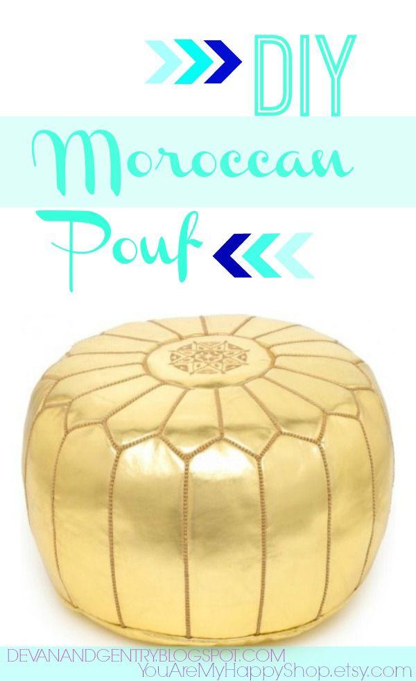 DIY Moroccan Pouf via You Are My Happy