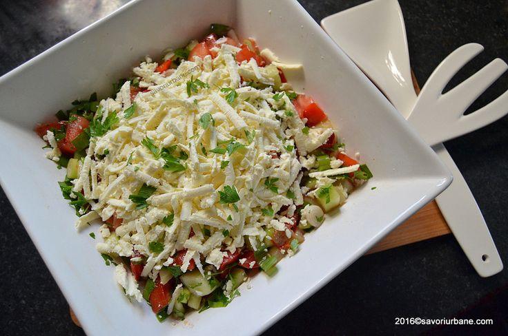 Salata bulgareasca reteta clasica Savori Urbane (1)