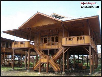Desain Bentuk Rumah Adat Manado dan Penjelasannya