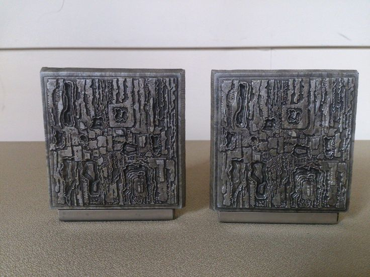 Mid century modern brutalist bookends paul evans era for Mid modern period