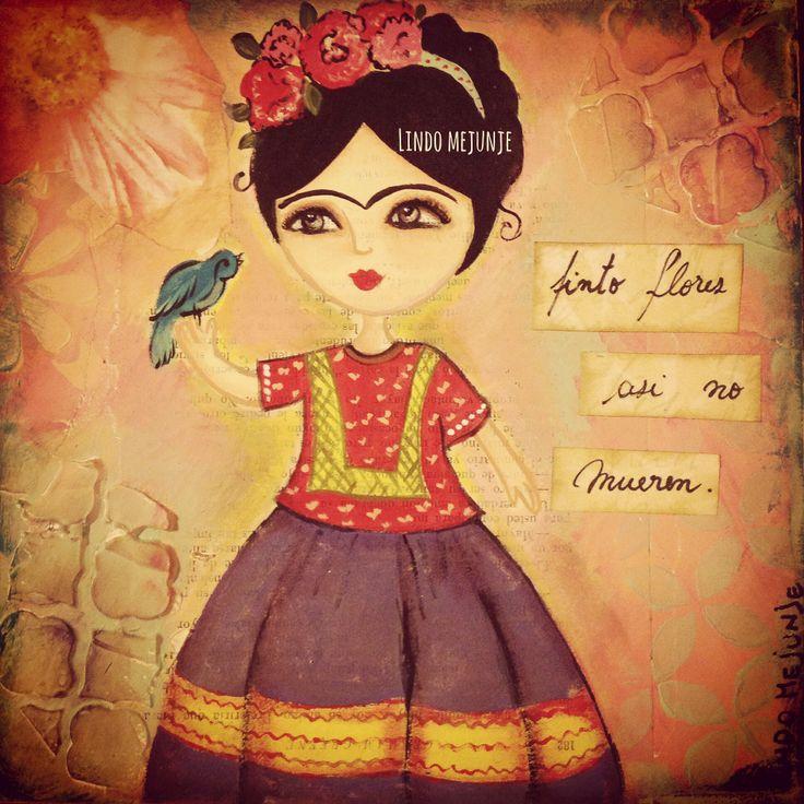 Frida Kahlo por lindo mejunje de Carla Gallardo