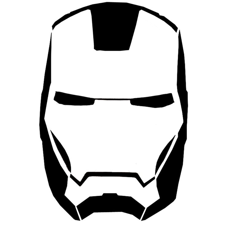 IRON MAN. Pumpkin Stencil...