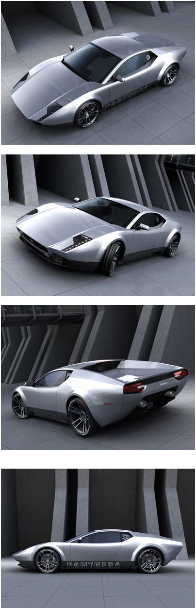 The De Tomaso Panthera concept is a contemporary redesign of the De Tomaso Pantera. The concept was created by German Designer Stefan Schulze (see Vector V8 Biturbo Concept), and is based on the mid-engine V10 Lamborghini Gallardo platform.