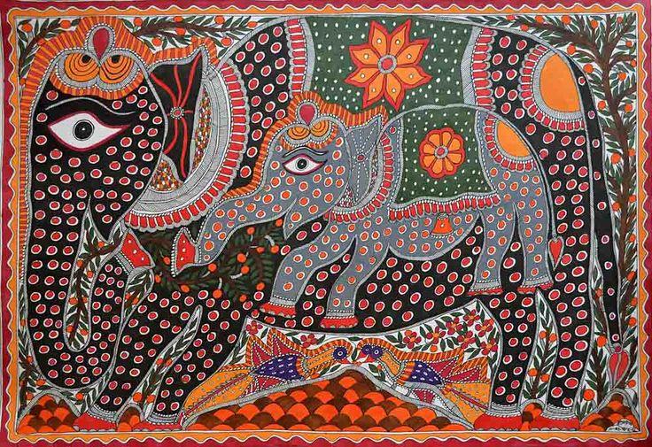 Madhubani Elephants