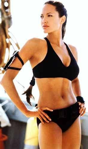 angelina jolie workout body