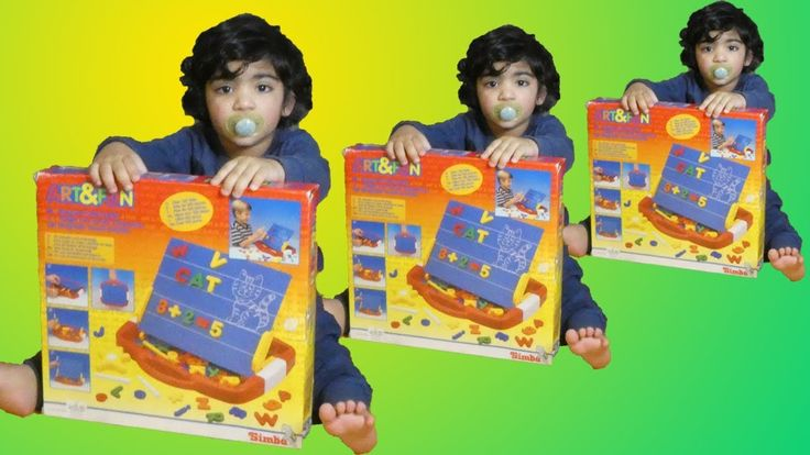 Rumi unboxing Magnetic Board Suitcase with a Toddler - learning videos f...