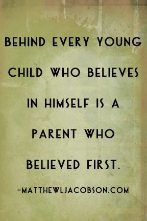 Believe in your kids and they will achieve amazing things.