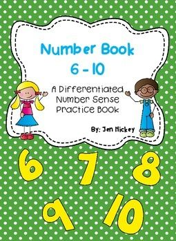 Two differentiated booklets to promote number sense for numbers 1-5.  Activities include writing numbers, showing numbers, using number lines, using ten frames, representing sets of quantities and much more!
