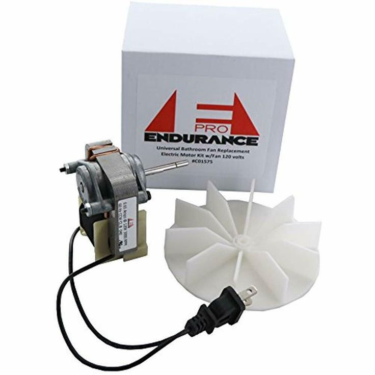 Electric Motor Kit With Fan 120v Bathroom Fan Motor Replacement For Broan Nutone Endurancepro Bathroom Fan Bathroom Vent Fan Exhaust Fan Motor