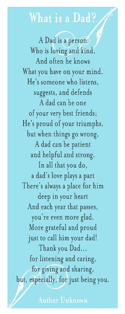 My dad is in hospice and is not going to be with us much longer. These are some very true words. My dad is my best friend and I am the person I am because of him.:
