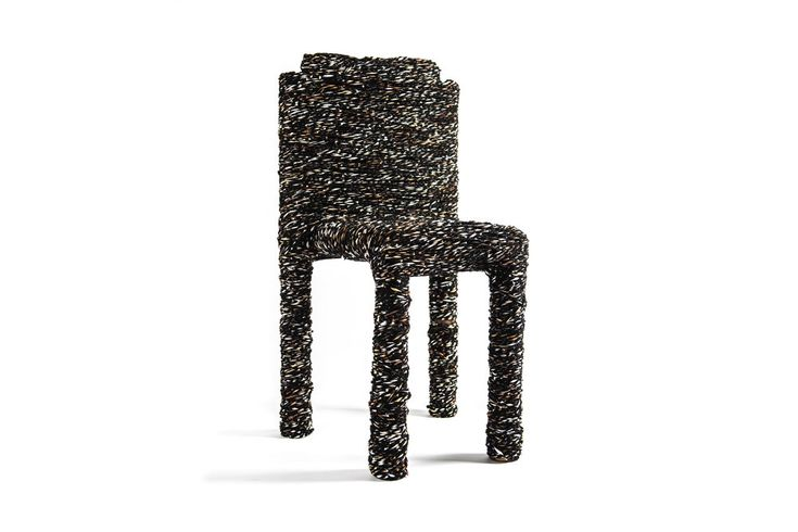 "Experimental Furniture ""Marble Wool Chair"" by Royal College Of Art Student Felix Pöttinger #experimental furniture #royalcollegeofart #marblewool #textilechair #chairdesign"