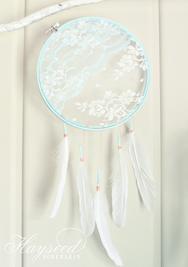 super cute DIY Lace Dream Catcher {by Hayseed Homemakin'} via @malloryjane01