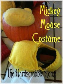 DIY Mickey Mouse Costume - Shoes by The Hardscrabble Home
