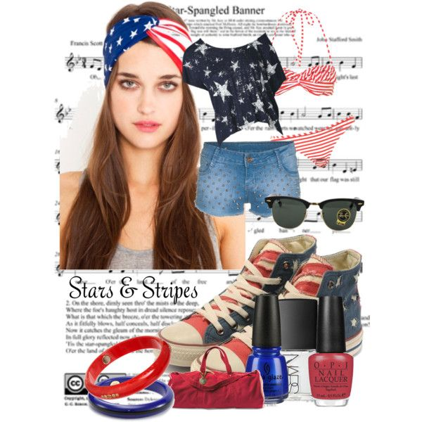 4th July Style, with my American Flaf TOMS :)