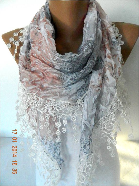NEW-Elegant Scarf with Trim Edge- Fashion Scarves -Scarf -gift scarf-Gift by MebaDesign