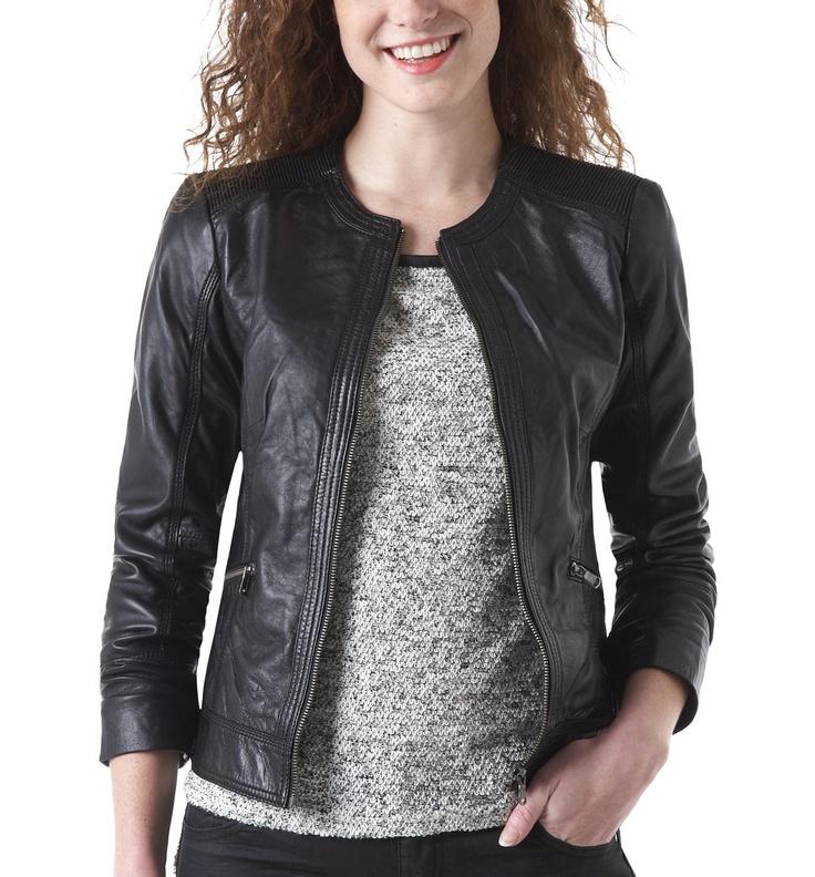 Leather jacket - Black - Women - Jackets - Promod