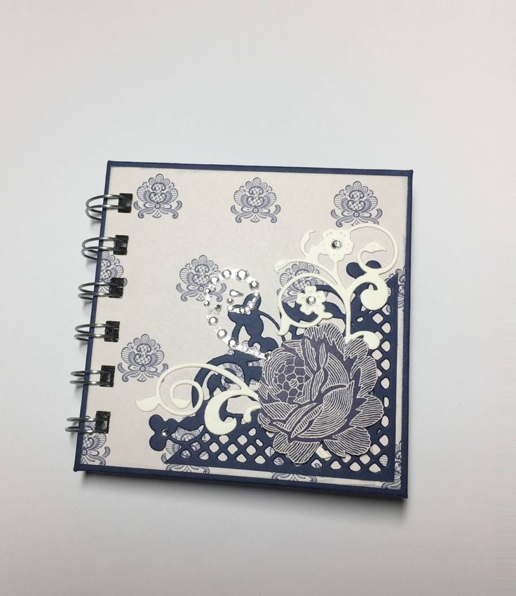 Floral Post It Note Holder, Wire bound by InACreativeTizzy on Etsy