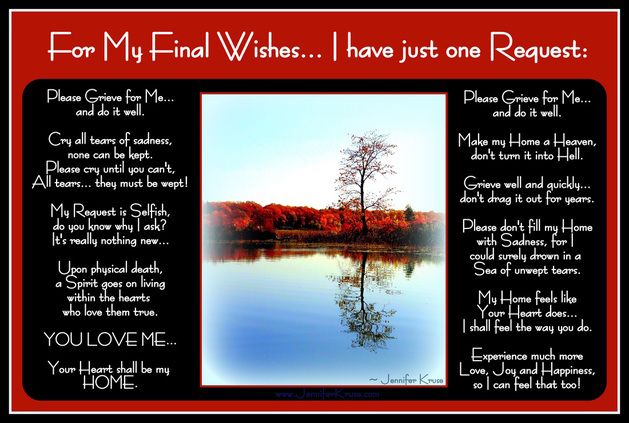 """I Hate You Dad Poems: Final Wishes Poem: """"One Last Request"""" Photo"""