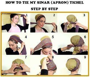 Como empate Meu SINAR tichel, Como embrulhar um lenço de cabeça, Cabelo Baixada, lenço principal, Cabeça Cobrir, headcovering judaico, lenço, bandana, avental
