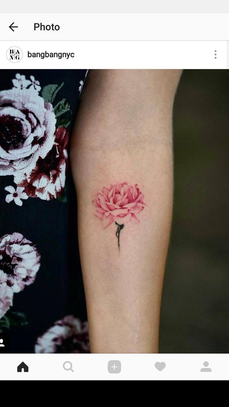 Tatouage De Fleur Rose Aquarelle Tattoos Aquarelle Fleur