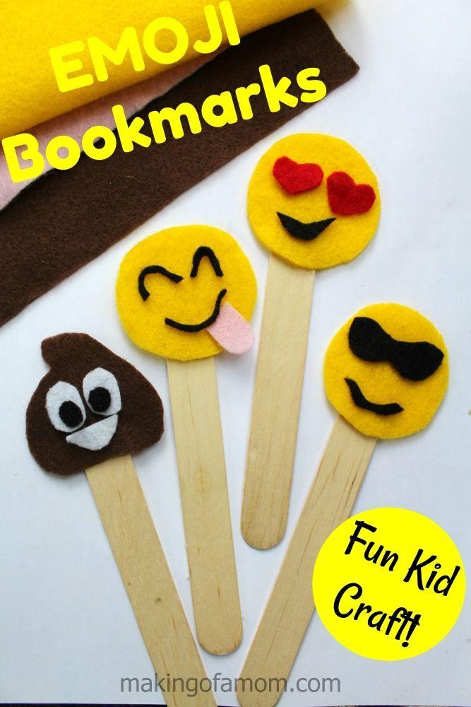 Emoji Bookmarks Felt Craft