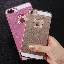 FLOVEME Bling Case For iPhone 5 5S SE 4 4S Cases Shiny Powder Phone Bag Case For iPhone 6 6s 7 Plus Women Girly Phone Cover(China)