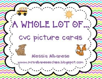 CVC Picture Cards {freebie!} - Alessia Albanese - TeachersPayTeachers.com