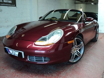 """Porsche BOXSTER 2.5 MANUAL 1998 BURGANDY RED, TAN LEATHER 19""""ALLOYS  wow wow wow"""