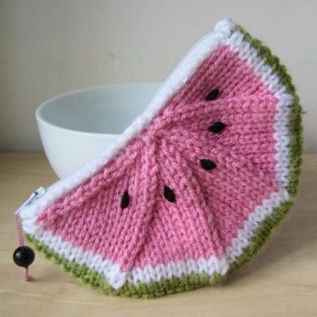 Watermelon Tote - our Top 10 Free Knitted Bag Patterns - find them all on the Let's Knit blog!