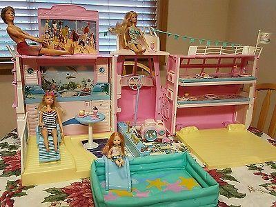 Vtg-Barbie-Mattel-Cruise-Ship-Yacht-LOADED-Sounds-Camera-Food-Pool-Dance-Club