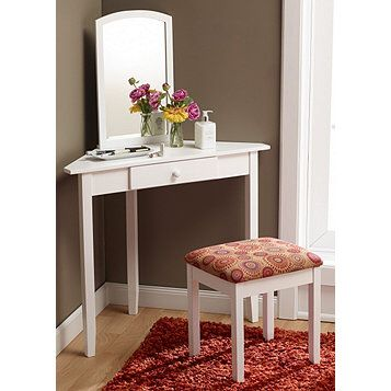 Tocador esquinero ideas pinterest vanities bedrooms for Corner table for bedroom