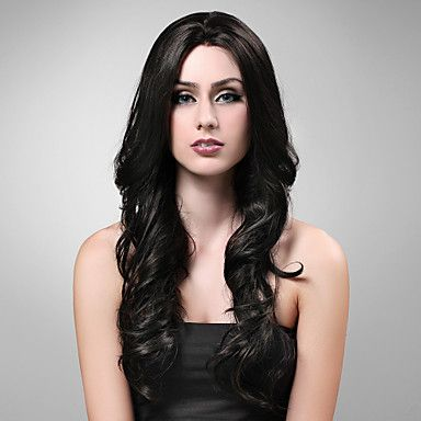 Hand Tied Style Lace Front Extra Long High Quality Synthetic Natural Look Black With Red European Weave Hair Wig – USD $ 66.49
