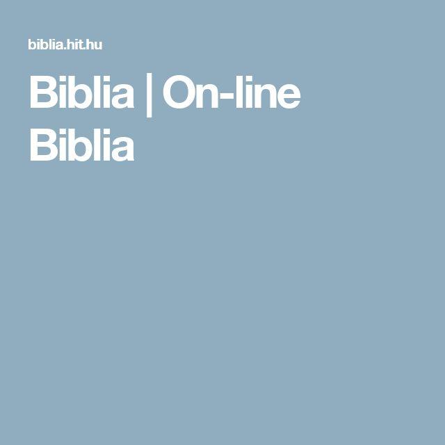 Biblia | On-line Biblia