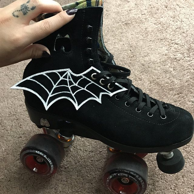 goth skate clips bat shoe clips gothic shoe clips gothic gift black skate wings leviathan cross gothic skate wings Occult shoe wings